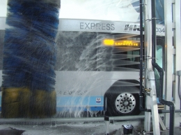 Transit wash systems