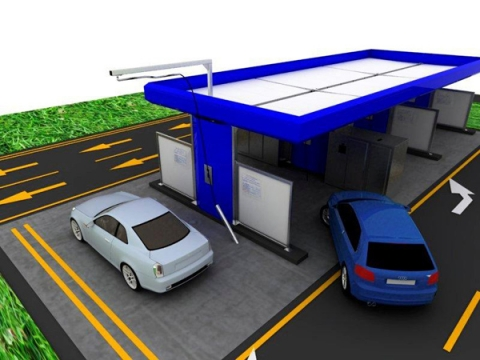 Modular self service car wash